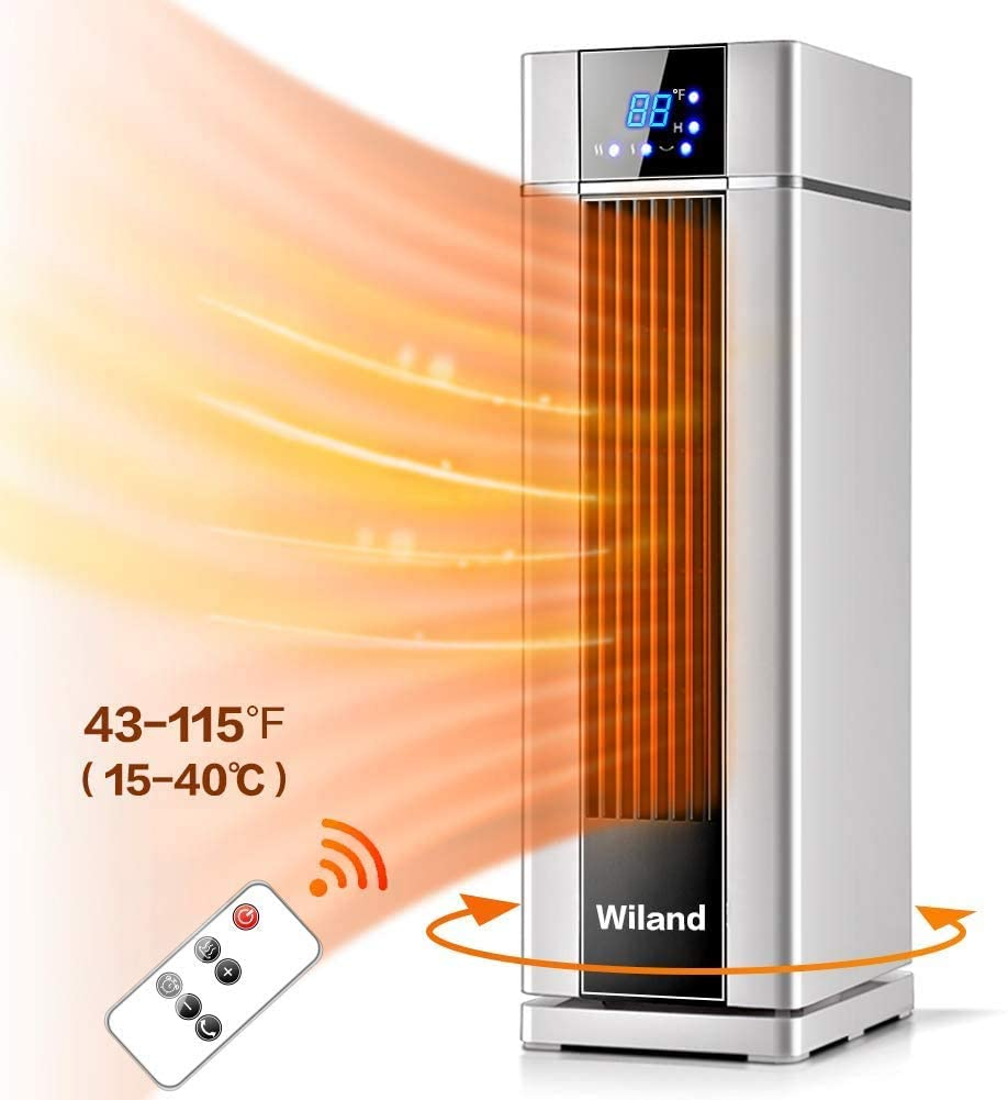 Wiland Space Heater, LCD Electric heater with Remote Control,8H Programmable Timer