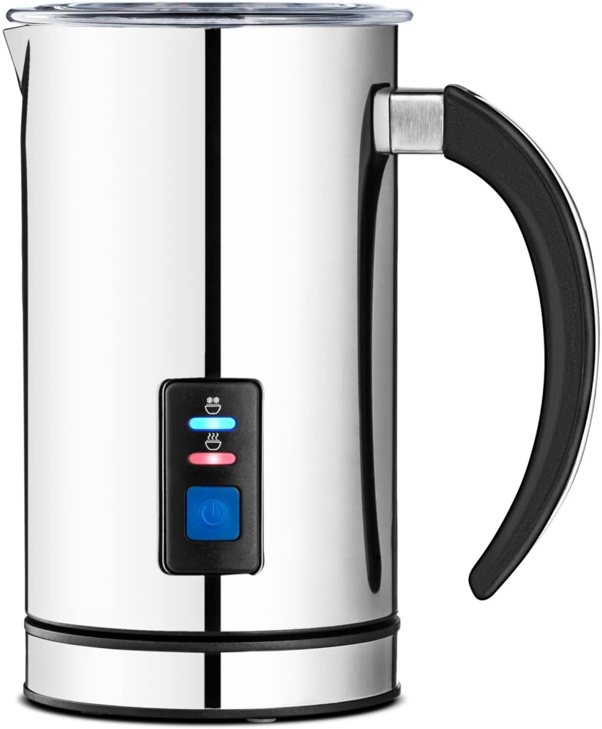 Chef's Star Stainless Steel Electric Milk Frother - Automatic Foam Maker & Creamer Steamer - Warmer & Heater