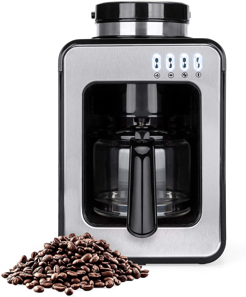 Best Choice Products 600W 4-Cup Automatic Kitchen Coffee Maker for Whole Beans or Ground Coffee w/Built-In Grinder