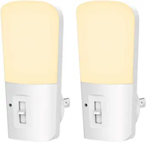 LOHAS Plug-in Night Light, Dimmable LED Night Lights with Dusk to Dawn Sensor, 2 Pack